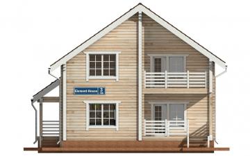 Фото #7: деревянный дом ПДБ-3 из клееного бруса купить за 9321000 (цена «Под ключ»)