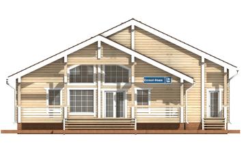 Фото #7: деревянный дом ПДБ-19 из клееного бруса купить за 11807000 (цена «Под ключ»)