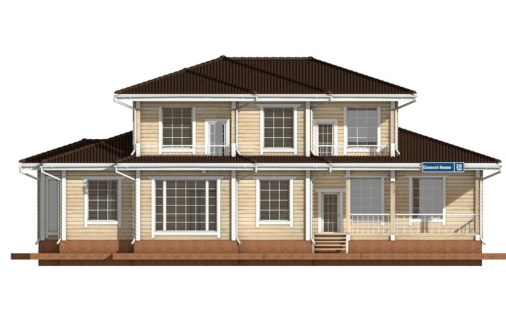 Фото #6: деревянный дом ПДБ-20 из клееного бруса купить за 15868000 (цена «Под ключ»)