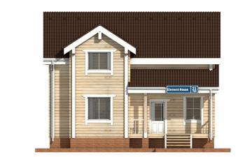 Фото #7: деревянный дом ПДБ-21 из клееного бруса купить за 9469000 (цена «Под ключ»)
