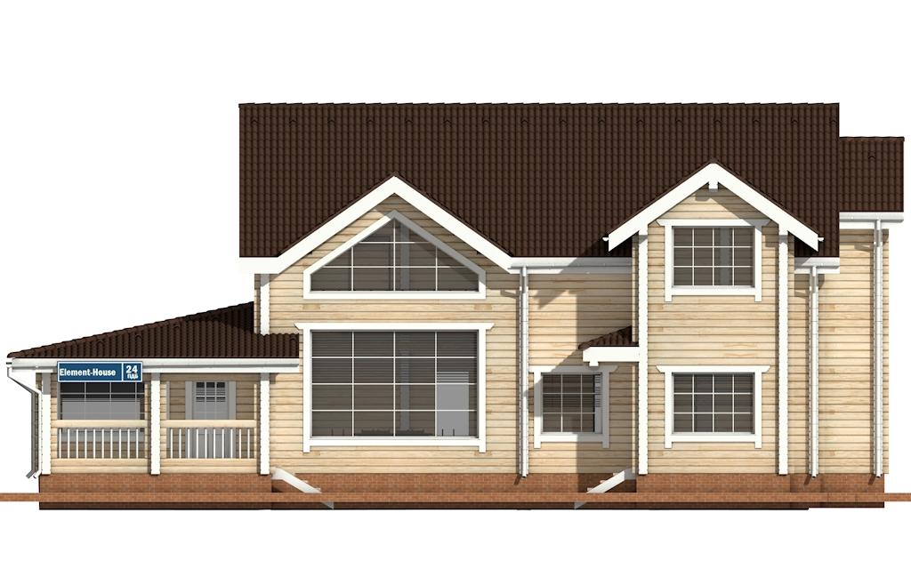 Фото #6: деревянный дом ПДБ-24 из клееного бруса купить за 14757000 (цена «Под ключ»)