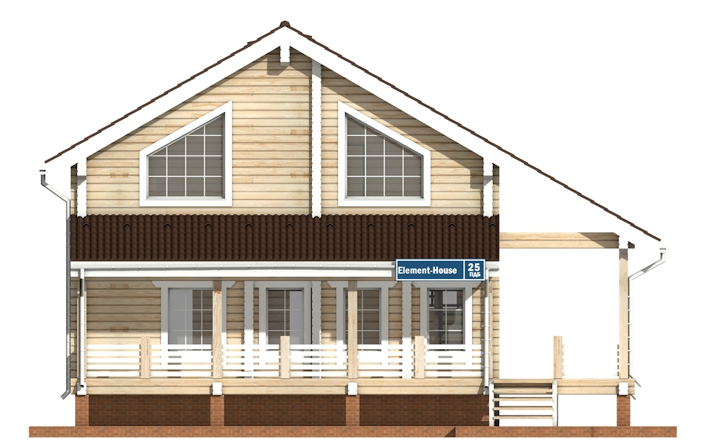Фото #6: деревянный дом ПДБ-25 из клееного бруса купить за 9255000 (цена «Под ключ»)