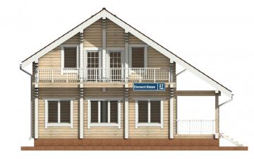 Фото #7: деревянный дом ПДБ-27 из клееного бруса купить за 8343000 (цена «Под ключ»)