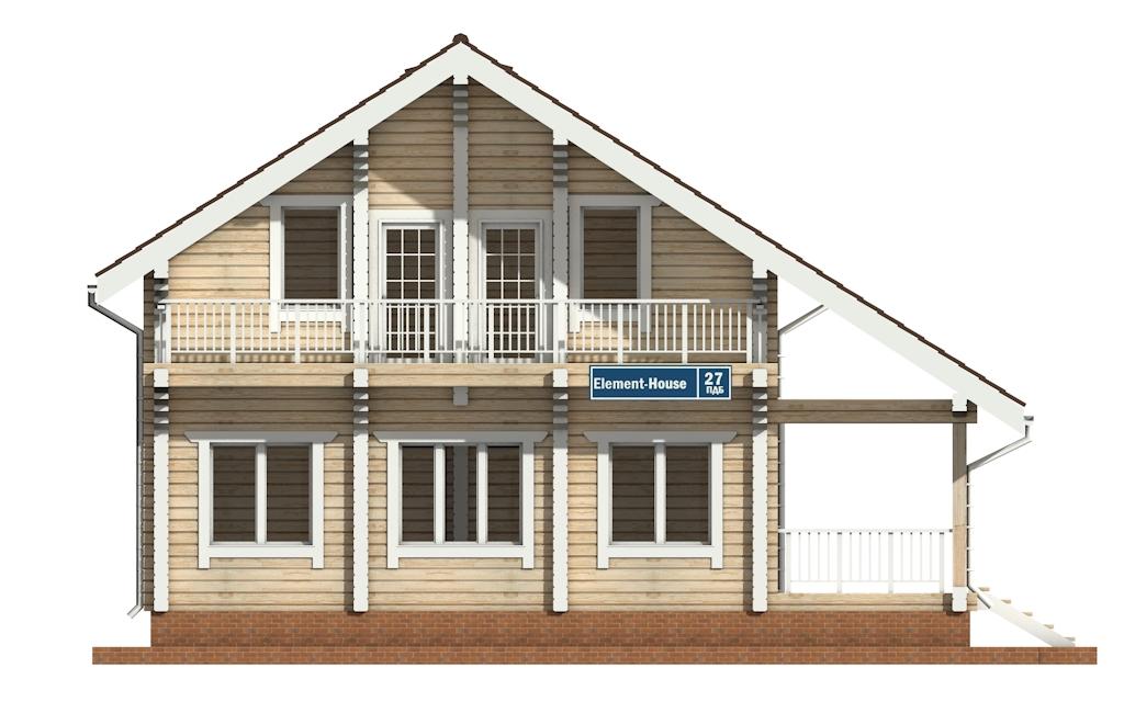 Фото #6: деревянный дом ПДБ-27 из клееного бруса купить за 8343000 (цена «Под ключ»)