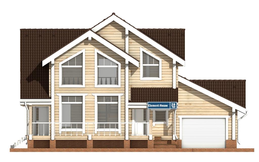 Фото #6: деревянный дом ПДБ-28 из клееного бруса купить за 10822000 (цена «Под ключ»)