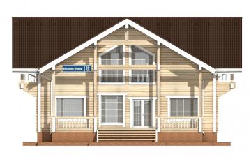 Фото #7: деревянный дом ПДБ-29 из клееного бруса купить за 12475000 (цена «Под ключ»)