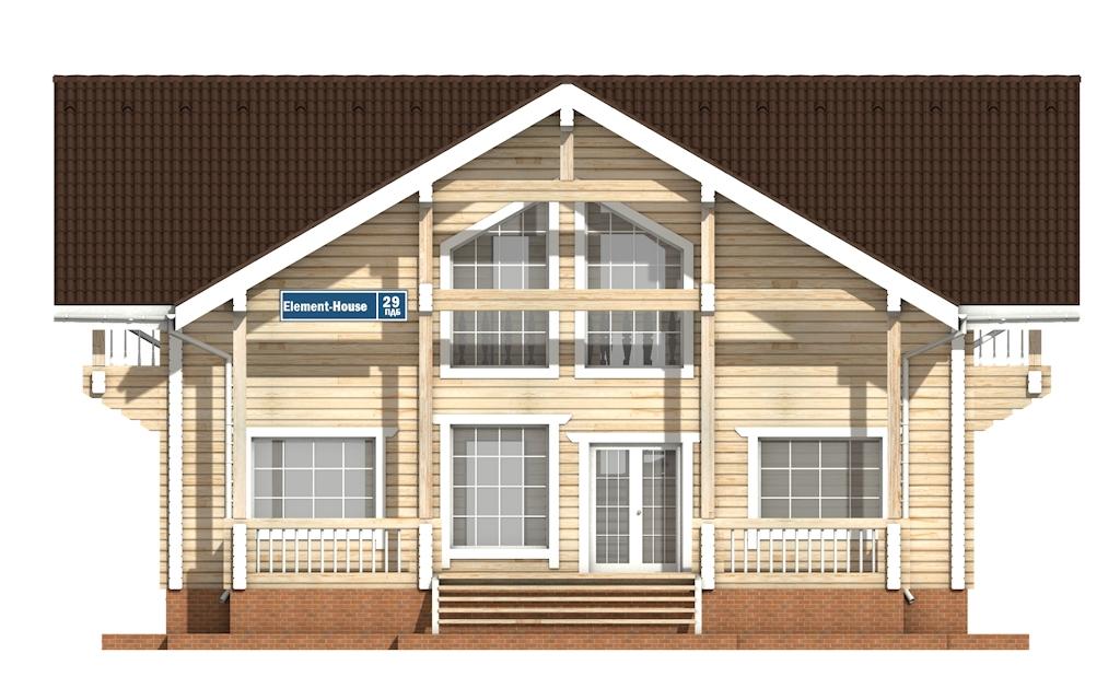Фото #6: деревянный дом ПДБ-29 из клееного бруса купить за 12475000 (цена «Под ключ»)