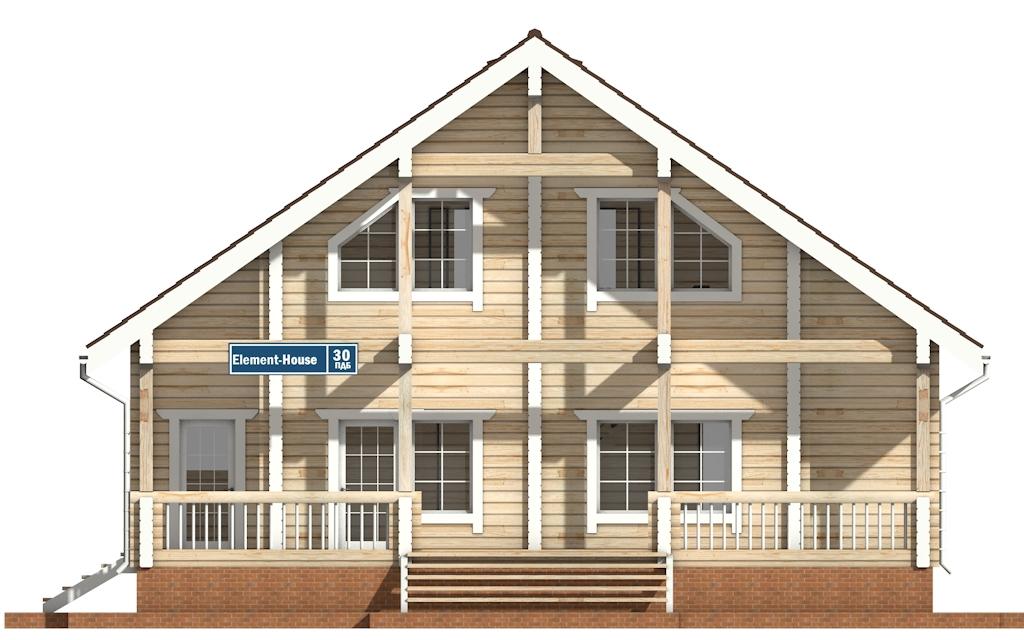 Фото #6: деревянный дом ПДБ-30 из клееного бруса купить за 10828000 (цена «Под ключ»)