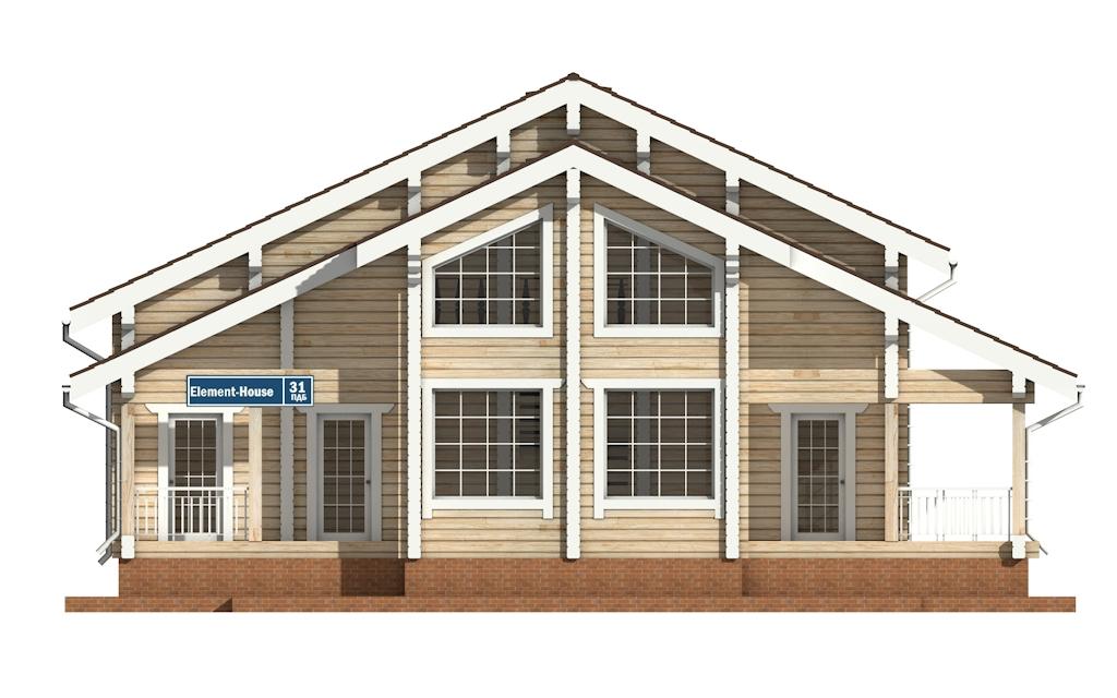 Фото #6: деревянный дом ПДБ-31 из клееного бруса купить за 10892000 (цена «Под ключ»)