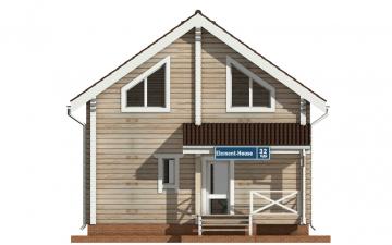 Фото #7: деревянный дом ПДБ-32 из клееного бруса купить за 6195000 (цена «Под ключ»)