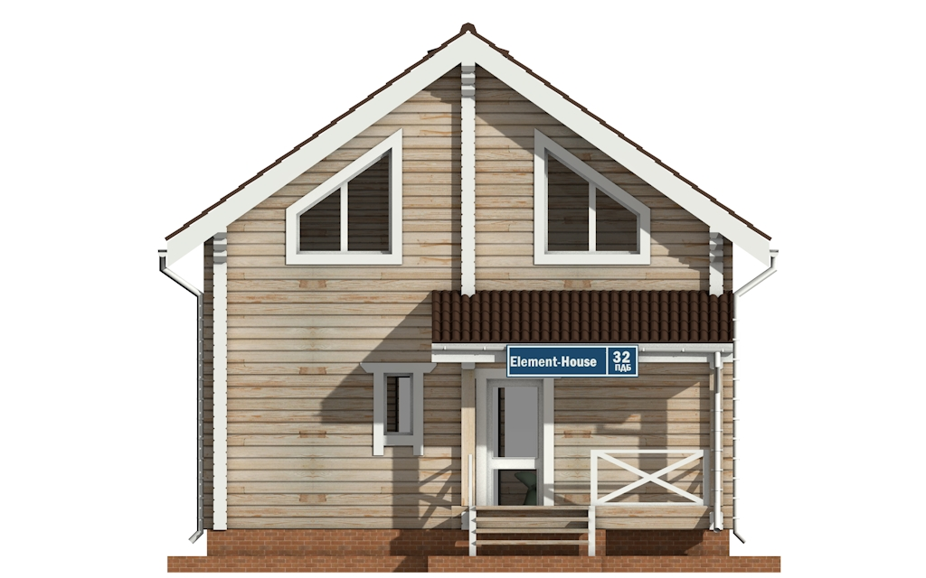 Фото #6: деревянный дом ПДБ-32 из клееного бруса купить за 6195000 (цена «Под ключ»)