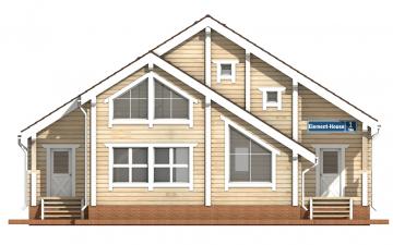 Фото #7: деревянный дом ПДБ-1 из клееного бруса купить за 9637000 (цена «Под ключ»)