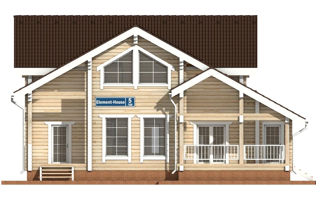 Фото #6: деревянный дом ПДБ-5 из клееного бруса купить за 11075000 (цена «Под ключ»)