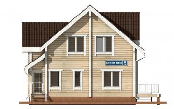 Фото #7: деревянный дом ПДБ-7 из клееного бруса купить за 10436000 (цена «Под ключ»)
