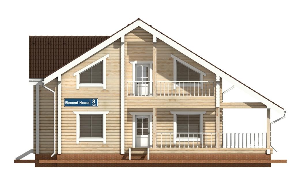 Фото #6: деревянный дом ПДБ-8 из клееного бруса купить за 11035000 (цена «Под ключ»)