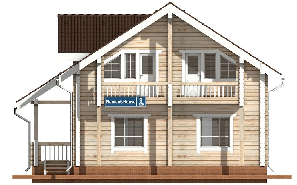 Фото #6: деревянный дом ПДБ-9 из клееного бруса купить за 10234000 (цена «Под ключ»)