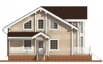 Фото #8: деревянный дом ПДБ-11 из клееного бруса купить за 11765000 (цена «Под ключ»)
