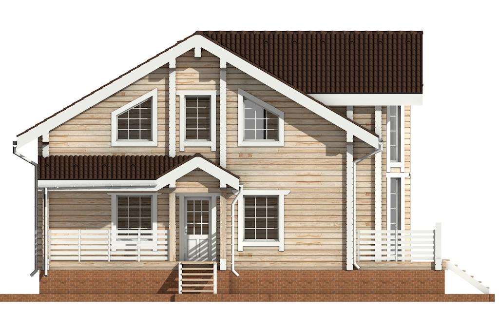 Фото #7: деревянный дом ПДБ-11 из клееного бруса купить за 11765000 (цена «Под ключ»)