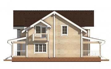 Фото #8: деревянный дом ПДБ-14 из клееного бруса купить за 13633000 (цена «Под ключ»)