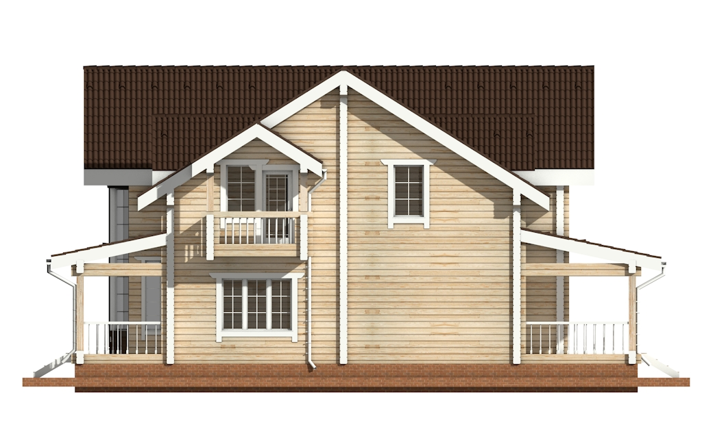 Фото #7: деревянный дом ПДБ-14 из клееного бруса купить за 13633000 (цена «Под ключ»)