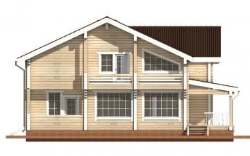 Фото #8: деревянный дом ПДБ-15 из клееного бруса купить за 17296000 (цена «Под ключ»)