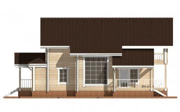 Фото #8: деревянный дом ПДБ-16 из клееного бруса купить за 12169000 (цена «Под ключ»)