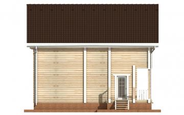 Фото #8: деревянный дом ПДБ-17 из клееного бруса купить за 10487000 (цена «Под ключ»)