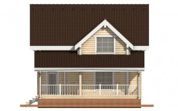 Фото #8: деревянный дом ПДБ-2 из клееного бруса купить за 11081000 (цена «Под ключ»)