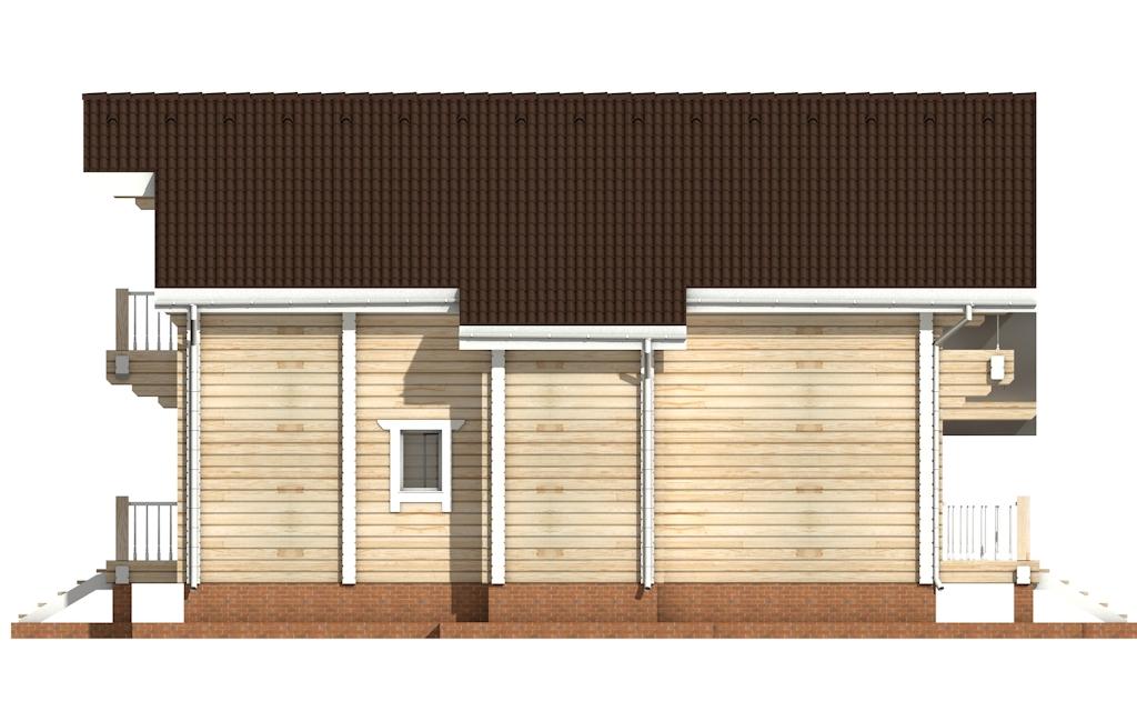 Фото #7: деревянный дом ПДБ-23 из клееного бруса купить за 11107000 (цена «Под ключ»)