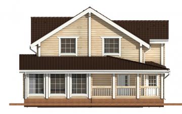 Фото #8: деревянный дом ПДБ-24 из клееного бруса купить за 14757000 (цена «Под ключ»)