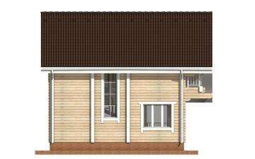 Фото #8: деревянный дом ПДБ-27 из клееного бруса купить за 8343000 (цена «Под ключ»)