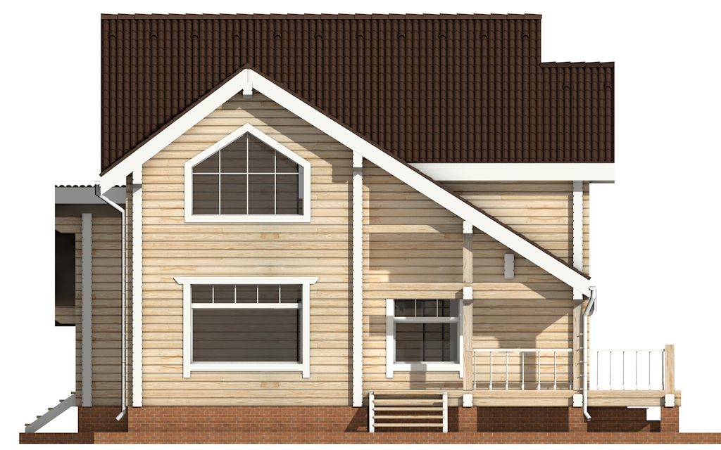Фото #7: деревянный дом ПДБ-28 из клееного бруса купить за 10822000 (цена «Под ключ»)