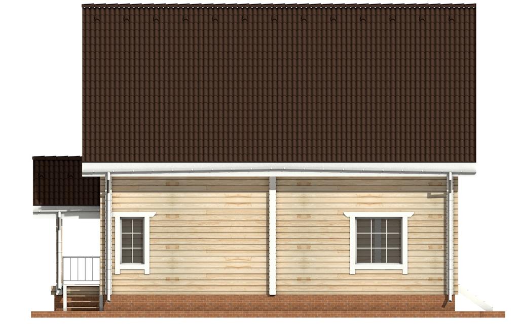 Фото #7: деревянный дом ПДБ-4 из клееного бруса купить за 10471000 (цена «Под ключ»)