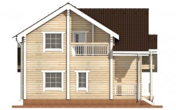 Фото #8: деревянный дом ПДБ-5 из клееного бруса купить за 11075000 (цена «Под ключ»)