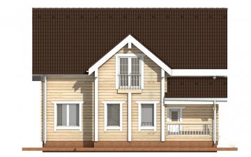 Фото #8: деревянный дом ПДБ-6 из клееного бруса купить за 10588000 (цена «Под ключ»)
