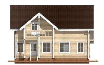 Фото #8: деревянный дом ПДБ-8 из клееного бруса купить за 11035000 (цена «Под ключ»)