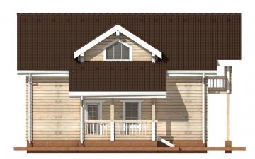 Фото #8: деревянный дом ПДБ-9 из клееного бруса купить за 10234000 (цена «Под ключ»)