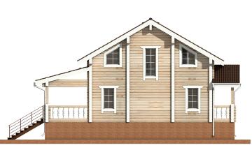 Фото #9: деревянный дом ПДБ-12 из клееного бруса купить за 6294000 (цена «Под ключ»)