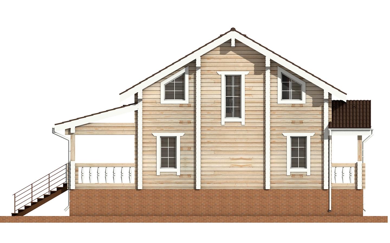 Фото #8: деревянный дом ПДБ-12 из клееного бруса купить за 6294000 (цена «Под ключ»)