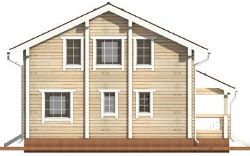Фото #9: деревянный дом ПДБ-13 из клееного бруса купить за 8773000 (цена «Под ключ»)