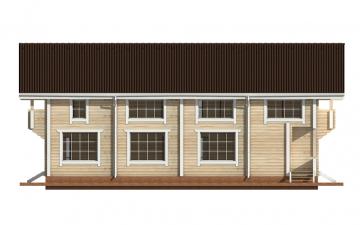 Фото #9: деревянный дом ПДБ-15 из клееного бруса купить за 17296000 (цена «Под ключ»)