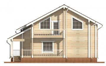 Фото #9: деревянный дом ПДБ-16 из клееного бруса купить за 12169000 (цена «Под ключ»)