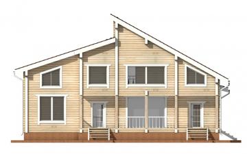 Фото #9: деревянный дом ПДБ-18 из клееного бруса купить за 15318000 (цена «Под ключ»)