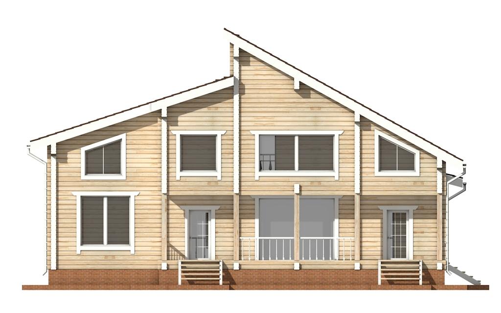 Фото #8: деревянный дом ПДБ-18 из клееного бруса купить за 15318000 (цена «Под ключ»)