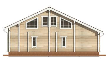 Фото #9: деревянный дом ПДБ-19 из клееного бруса купить за 11807000 (цена «Под ключ»)