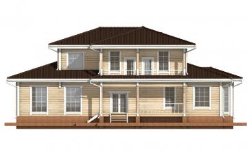 Фото #9: деревянный дом ПДБ-20 из клееного бруса купить за 15868000 (цена «Под ключ»)
