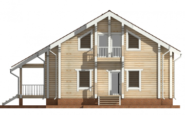 Фото #9: деревянный дом ПДБ-23 из клееного бруса купить за 11107000 (цена «Под ключ»)