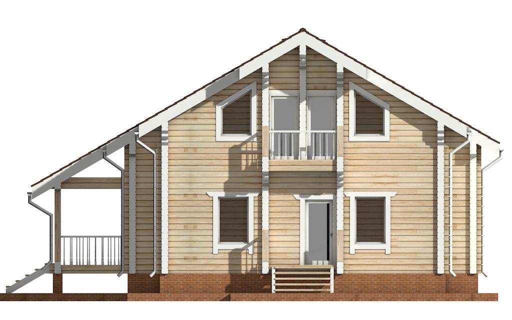 Фото #8: деревянный дом ПДБ-23 из клееного бруса купить за 11107000 (цена «Под ключ»)