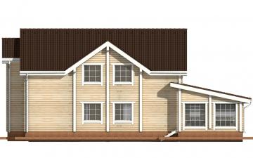 Фото #9: деревянный дом ПДБ-24 из клееного бруса купить за 14757000 (цена «Под ключ»)