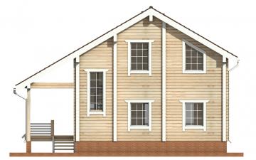 Фото #9: деревянный дом ПДБ-25 из клееного бруса купить за 9255000 (цена «Под ключ»)